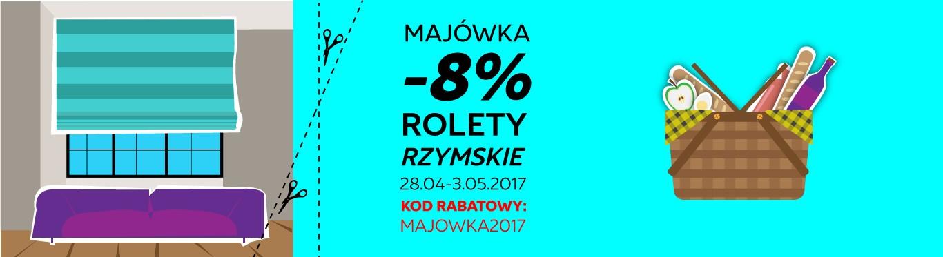 Dekoruj Online: 8% rabatu na rolety rzymskie                         title=