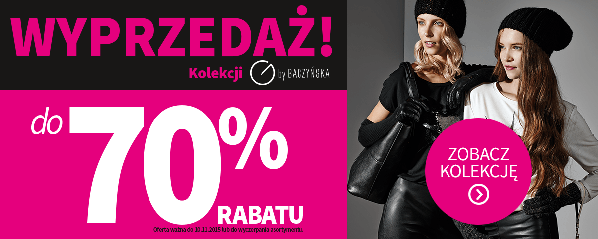 Rossmann: do 70% rabatu na kolekcję by Baczyńska