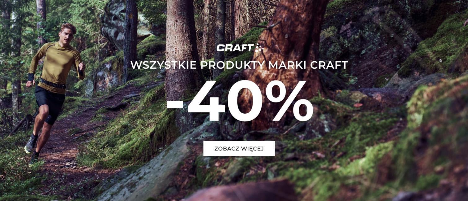 ST Sklep: 40% zniżki na odzież i obuwie sportowe marki Craft