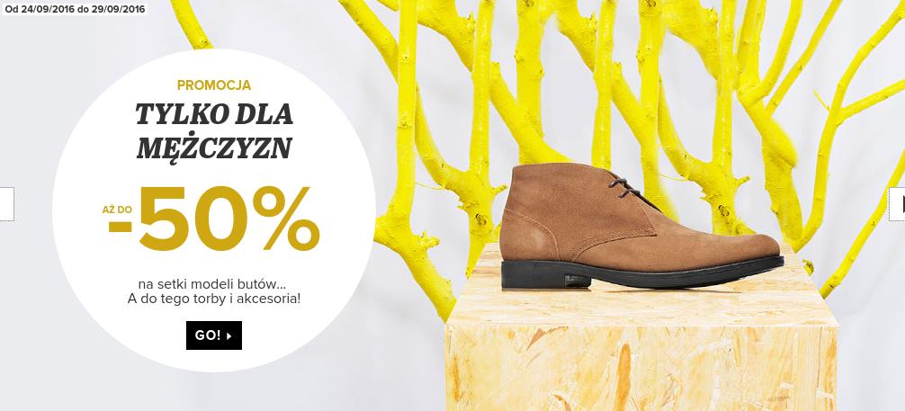Sarenza: do 50% rabatu na setki modeli obuwia dla mężczyzn