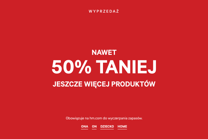 H&M: do 50% zniżki                         title=
