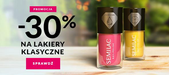 Semilac: 30% rabatu na lakiery klasyczne