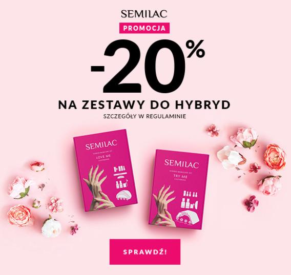 Semilac: 20% zniżki na zestawy do hybrydy