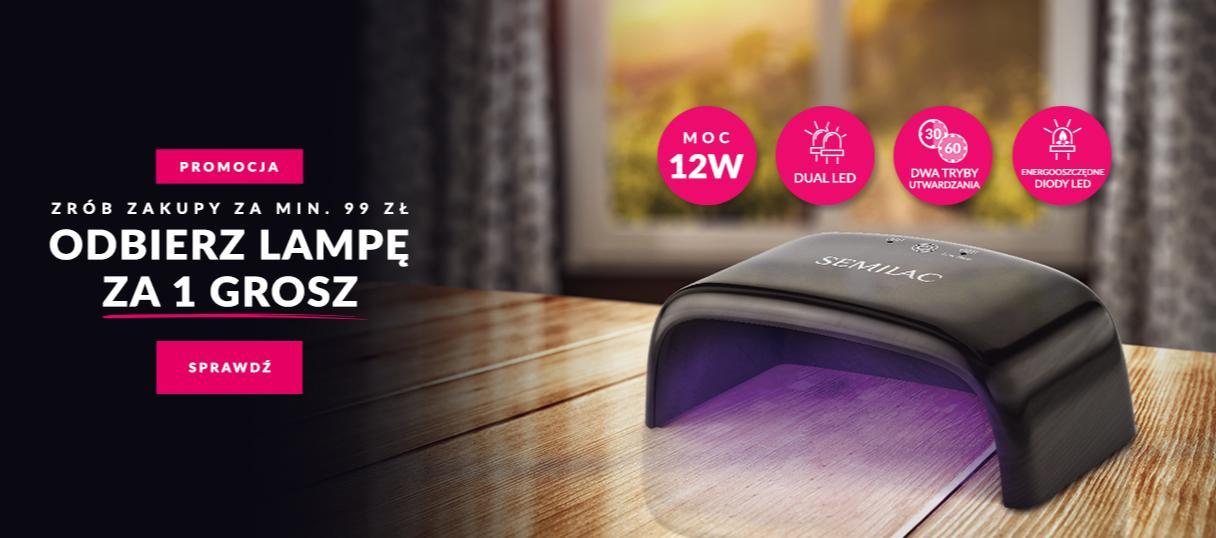 Semilac: zrób zakupy za min. 99 zł i odbierz lampę UV za 1 gr