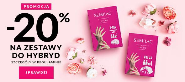 Semilac: 20% rabatu na zestawy do hybrydy
