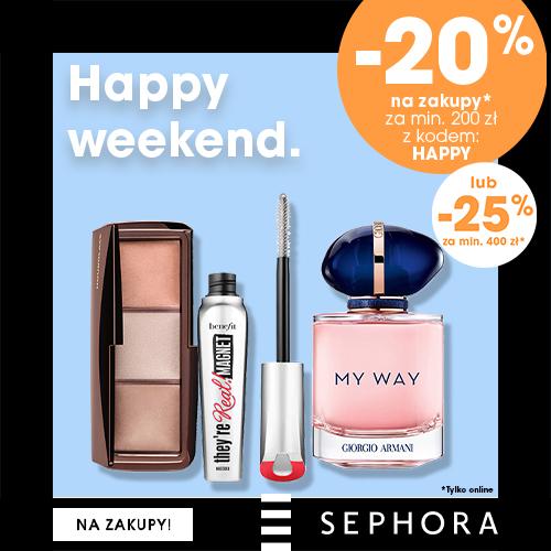Sephora: 25% rabatu na kosmetyki i zapachy przy zakupach za min. 400 zł lub 20% zniżki przy zakupach za min. 200 zł