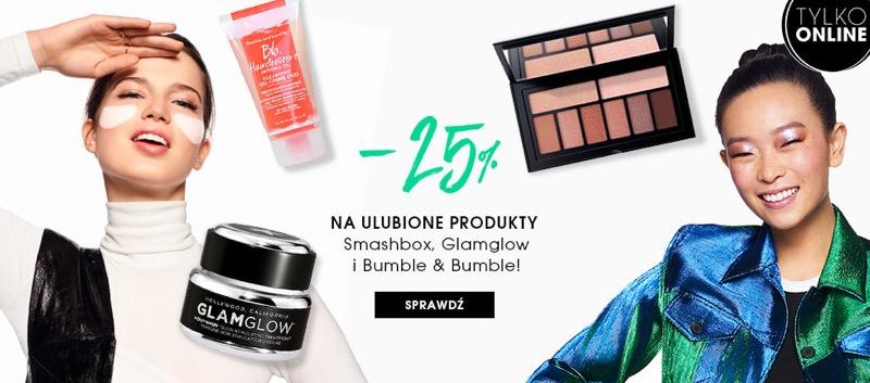 Sephora: 25% zniżki na kosmetyki marek Smashbox, Glamglow i Bumble and Bumble