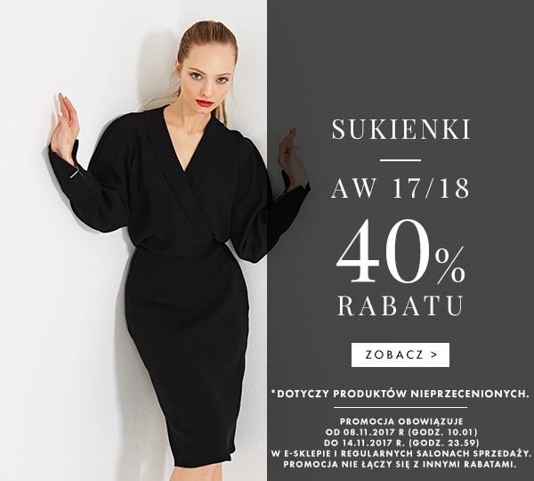412e719f24 Simple  40% rabatu na sukienki z kolekcji jesień-zima 2017 2018