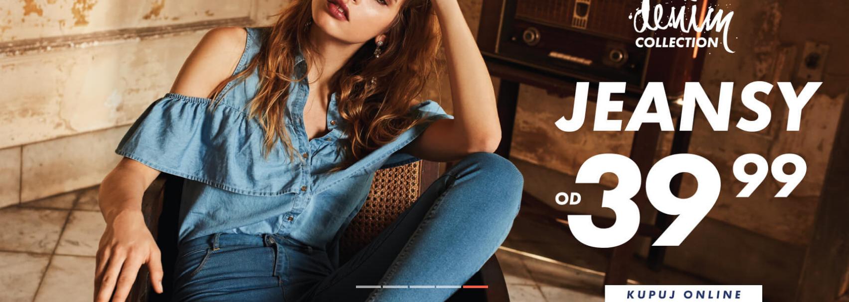 Sinsay: jeansy od 39,99 zł                         title=