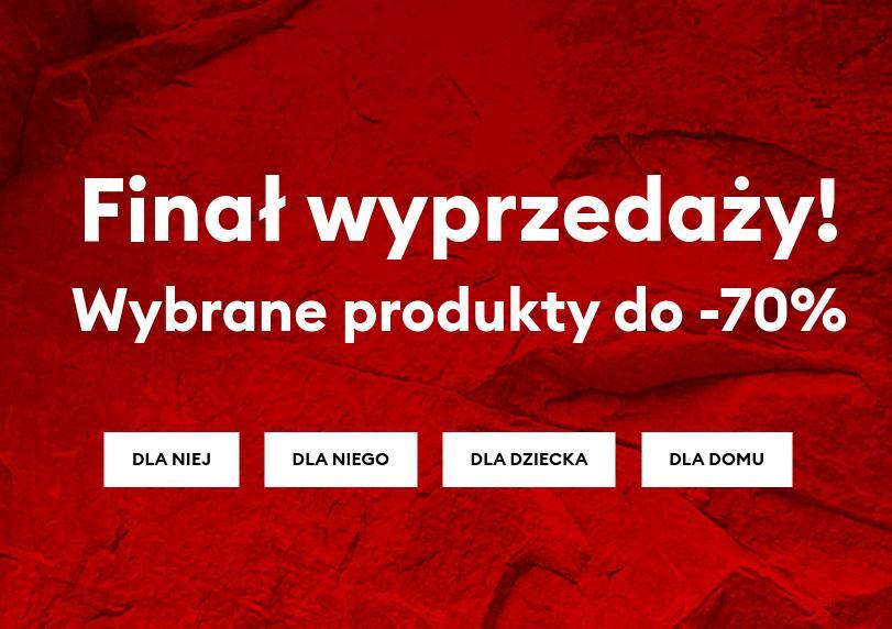 Sinsay: wyprzedaż do 70% rabatu na odzież, obuwie, akcesoria do domu - wybrane produkty