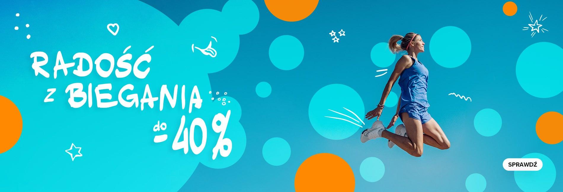 Sklep Biegacza: do 40% rabatu na odzież, obuwie oraz sprzęt do biegania - promocja na Dzień Dziecka - radość z  biegania