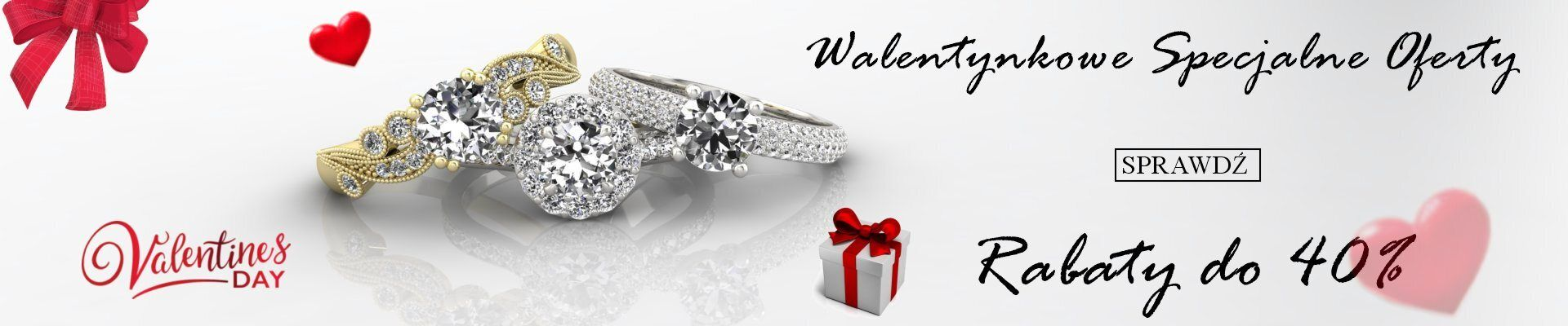 Sklep Jubilerski: do 40% rabatu na biżuterię - prezent na Walentynki