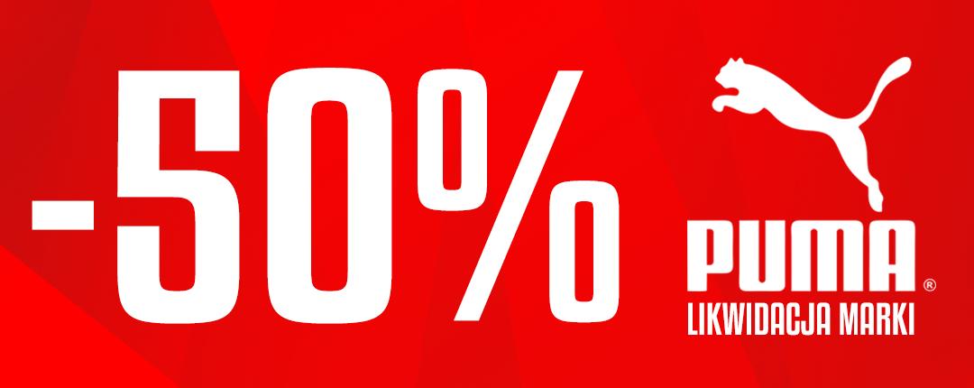 Sklep Luz: Likwidacja Kolekcji 50% zniżki na produkty marki Puma