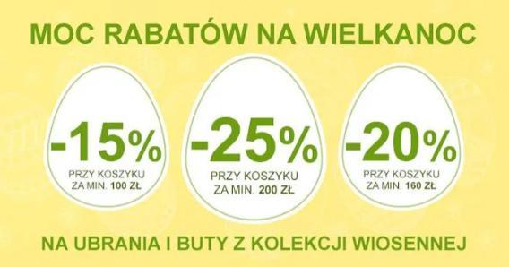Smyk: do 25% rabatu na ubrania i buty z kolekcji wiosennej - Wielkanocna Promocja