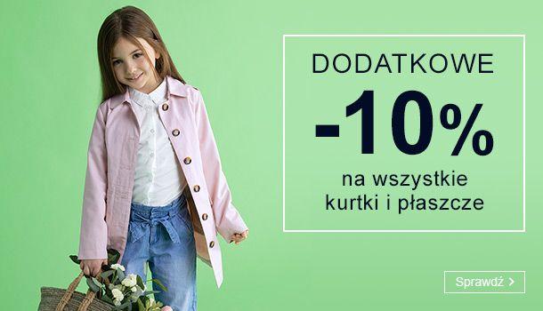 Smyk: dodatkowe 10% rabatu na wszystkie kurtki i płaszcze dziecięce                         title=