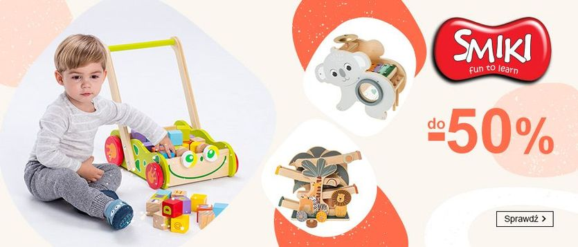 Smyk Smyk: do 50% zniżki na zabawki marki Smiki