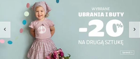 Smyk: 20% zniżki na drugą sztukę odzieży i obuwia dla dzieci
