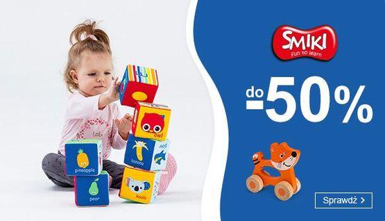 Smyk Smyk: do 50% zniżki na zabawki dla dzieci marki Smiki