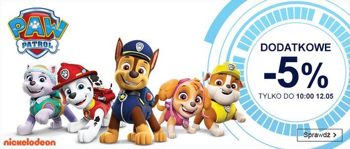 Smyk: dodatkowe 5% rabatu na zabawki z kolekcji Psi Patrol