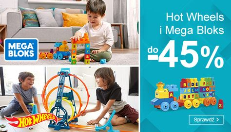 Smyk: do 45% zniżki na zabawki Hot Wheels i Mega Blocks
