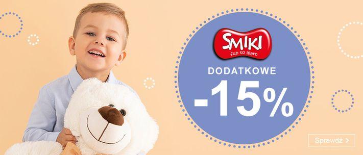 Smyk: dodatkowe 15% zniżki na zabawki i artykuły szkolne Smiki