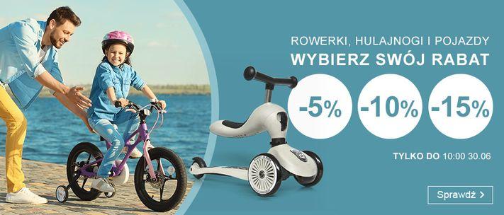 Smyk Smyk: do 15% zniżki na rowerki, hulajnogi i pojazdy