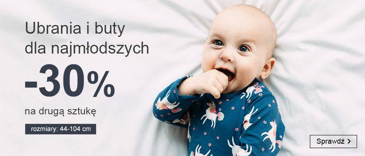 Smyk: 30% zniżki na drugą sztukę - ubrania i buty dla najmłodszych 0-2 lata