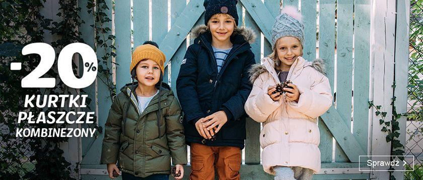 Smyk: 20% zniżki na kurtki, płaszcze i kombinezony dziecięce