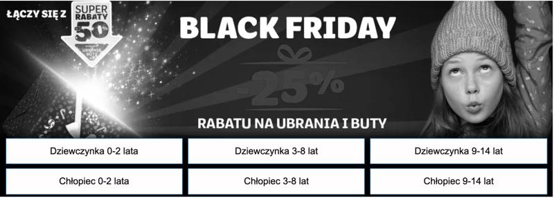 Smyk: Black Friday 25% rabatu na ubrania i buty dziecięce                         title=