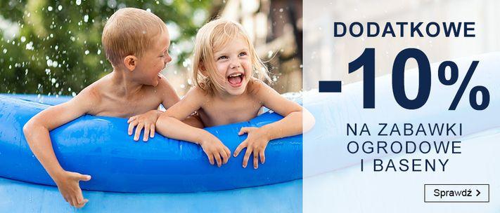 Smyk: dodatkowe 10% rabatu na zabawki ogrodowe i baseny