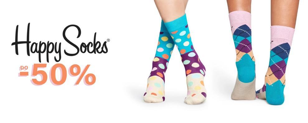 Sneakers Sneakers: do 50% rabatu na skarpetki marki Happy Socks