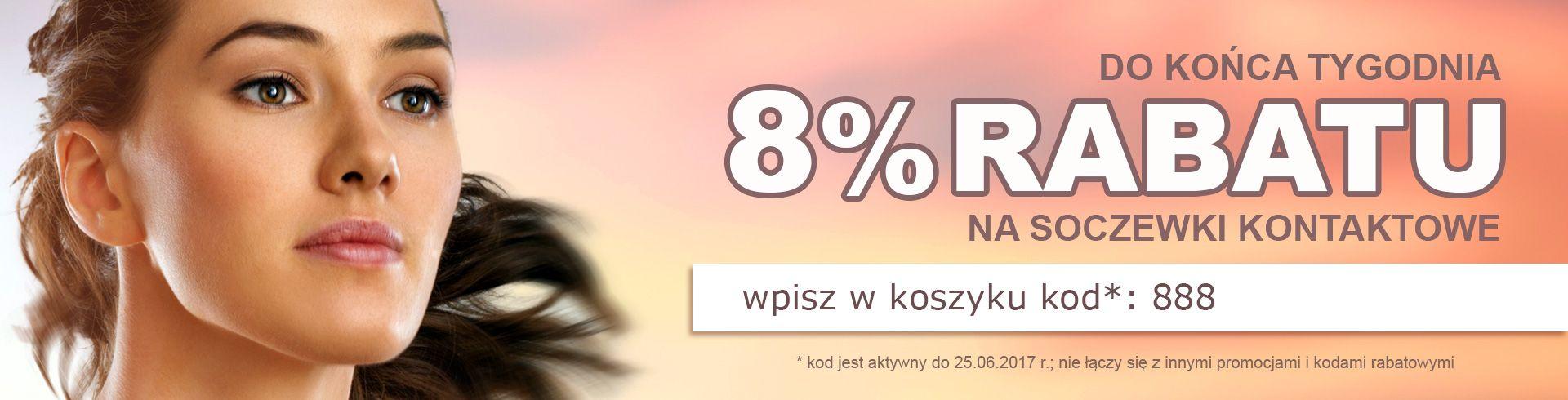 Soczewki24: 8% zniżki na soczewki kontaktowe