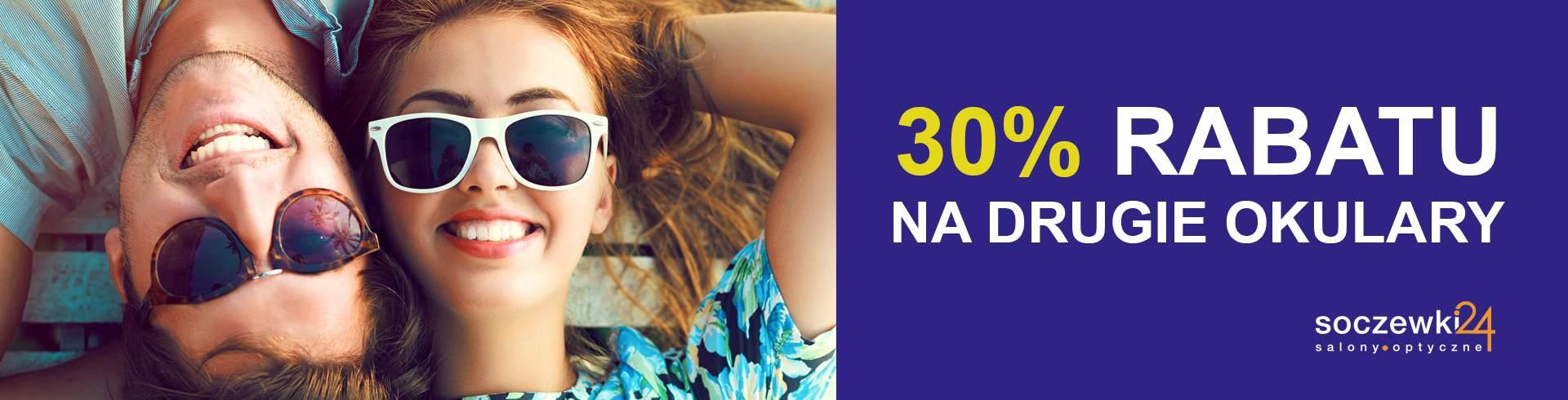 Soczewki24: 30% rabatu na drugie okulary