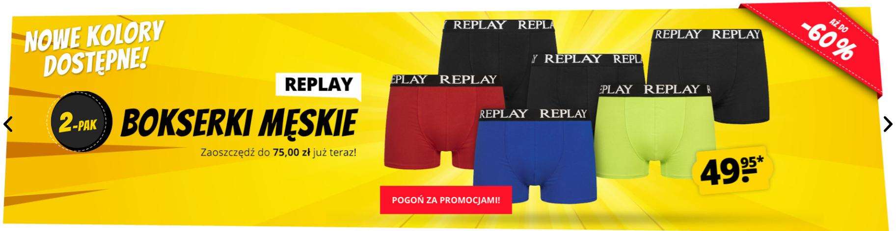 Sport Rabat Sport Rabat: do 60% rabatu na bokserki męskie marki Replay