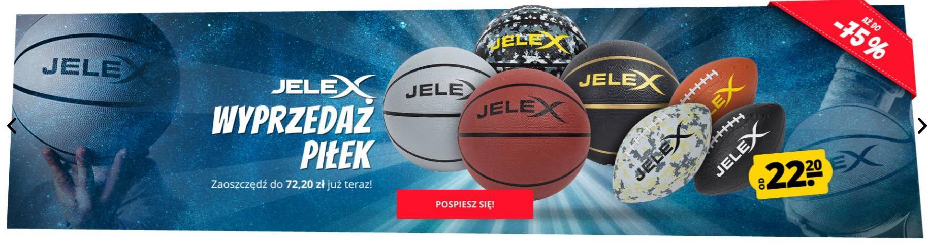 Sport Rabat: wyprzedaż do 75% zniżki na piłki marki Jelex
