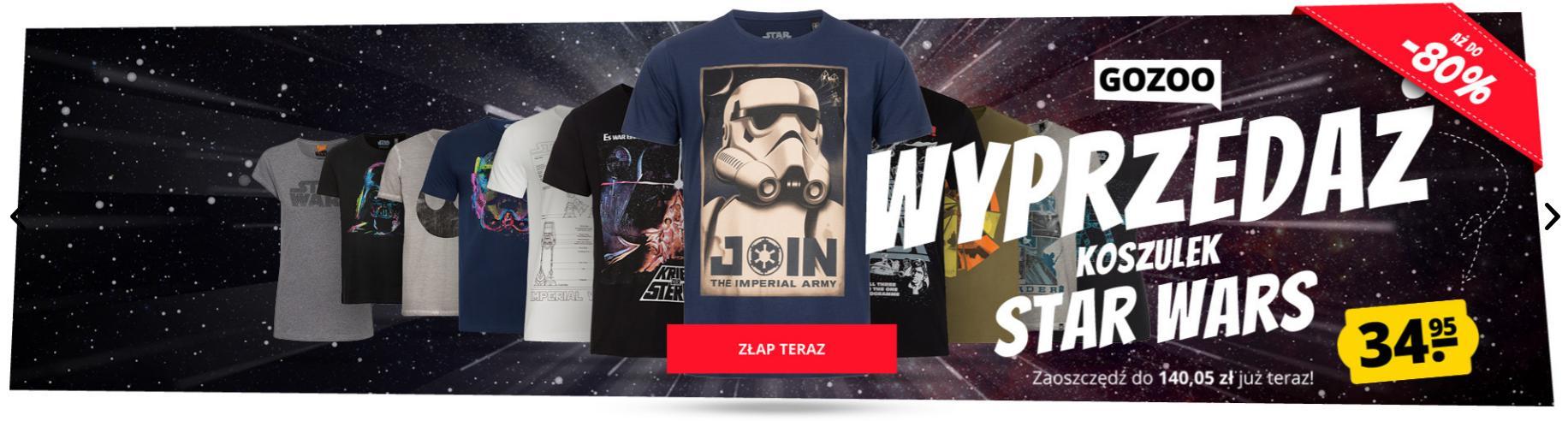 Sport Rabat Sport Rabat: wyprzedaż do 80% zniżki na koszulki Star Wars