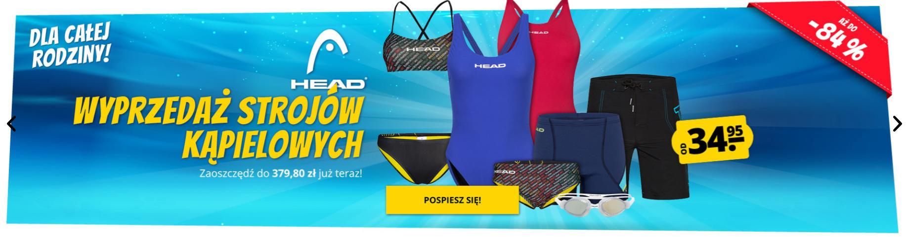 Sport Rabat: wyprzedaż do 84% zniżki na stroje kąpielowe dla całej rodziny