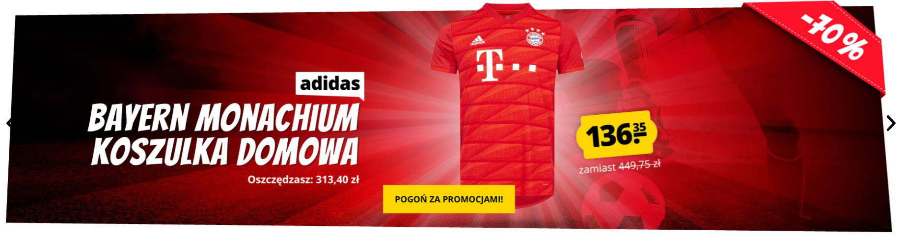Sport Rabat: 70% rabatu na koszulkę domową Bayernu Monachium
