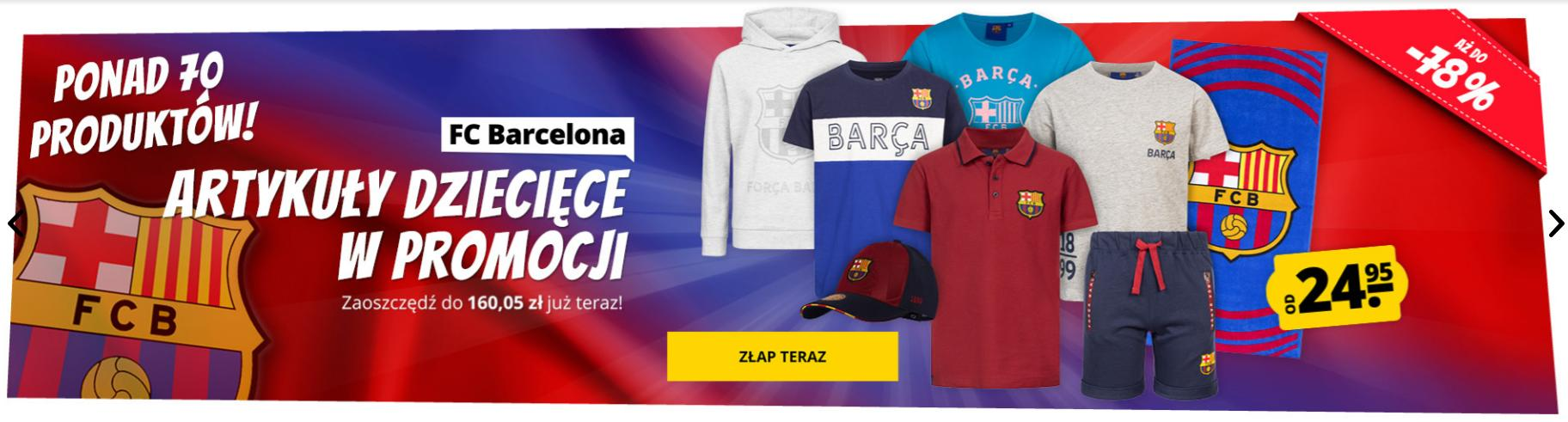 Sport Rabat: do 78% rabatu na artykuły dziecięce FC Barcelona