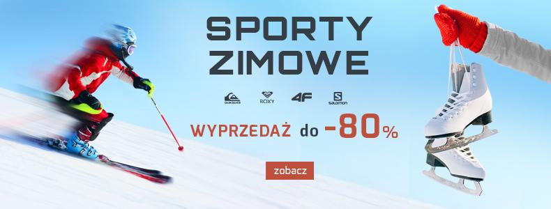 Sport Shop: wyprzedaż do 80% zniżki na odzież, obuwie, sprzęt do sportów zimowych