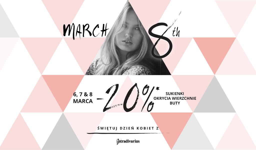 Stradivarius: 20% zniżki z okazji Dnia Kobiet