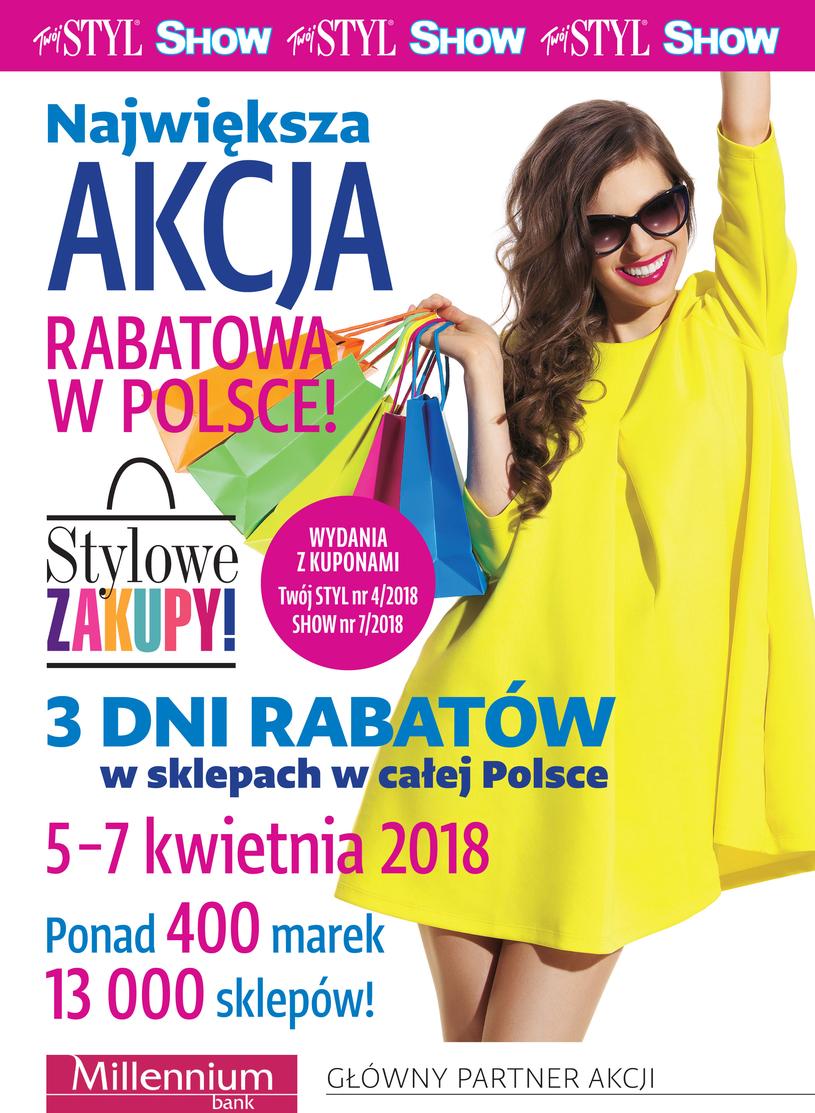Weekend Zniżek z magazynami Twój Styl i Show - Stylowe Zakupy w całej Polsce 5-7 kwietnia 2018                         title=