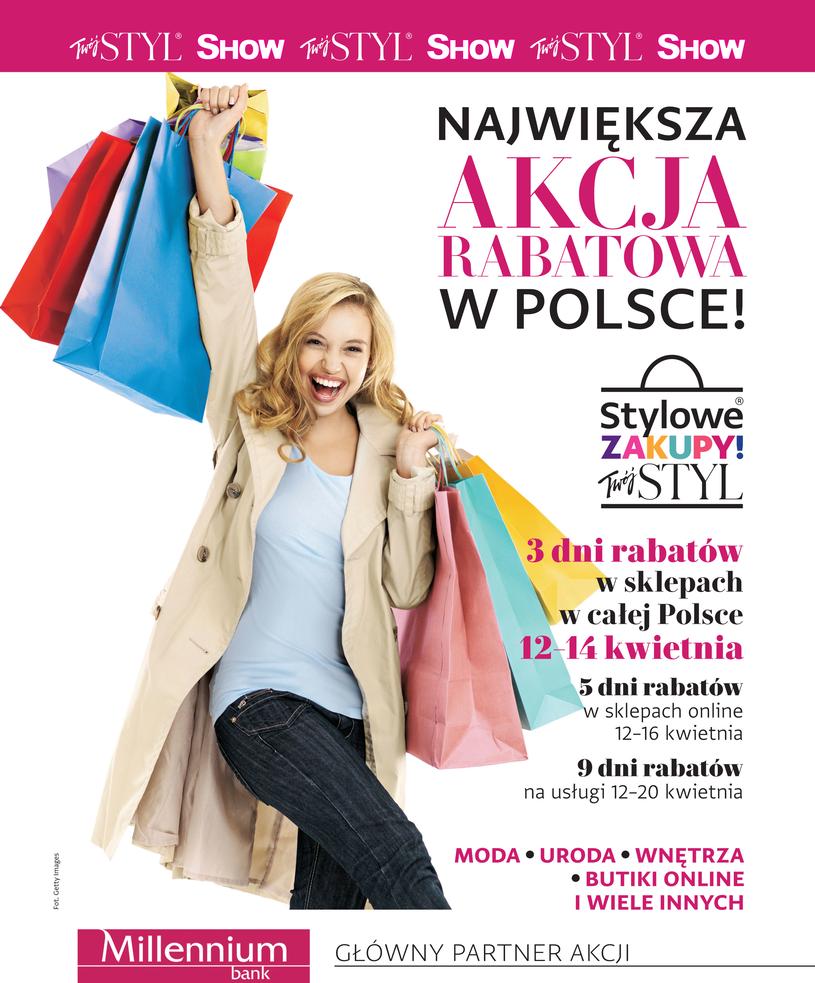 Weekend Zniżek z magazynami Twój Styl i Show - Stylowe Zakupy w całej Polsce 12-14 kwietnia 2019                         title=