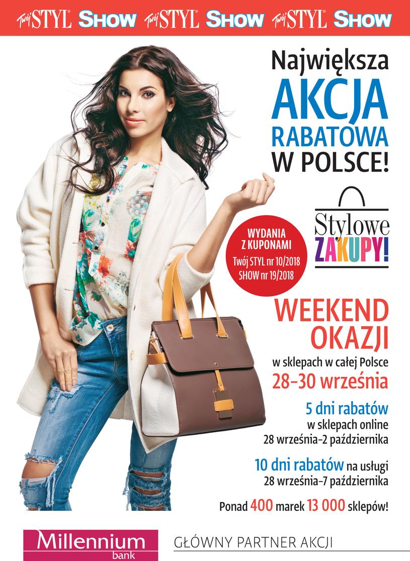 Weekend Zniżek z magazynami Twój Styl i Show - Stylowe Zakupy w całej Polsce 28-30 września 2018                         title=