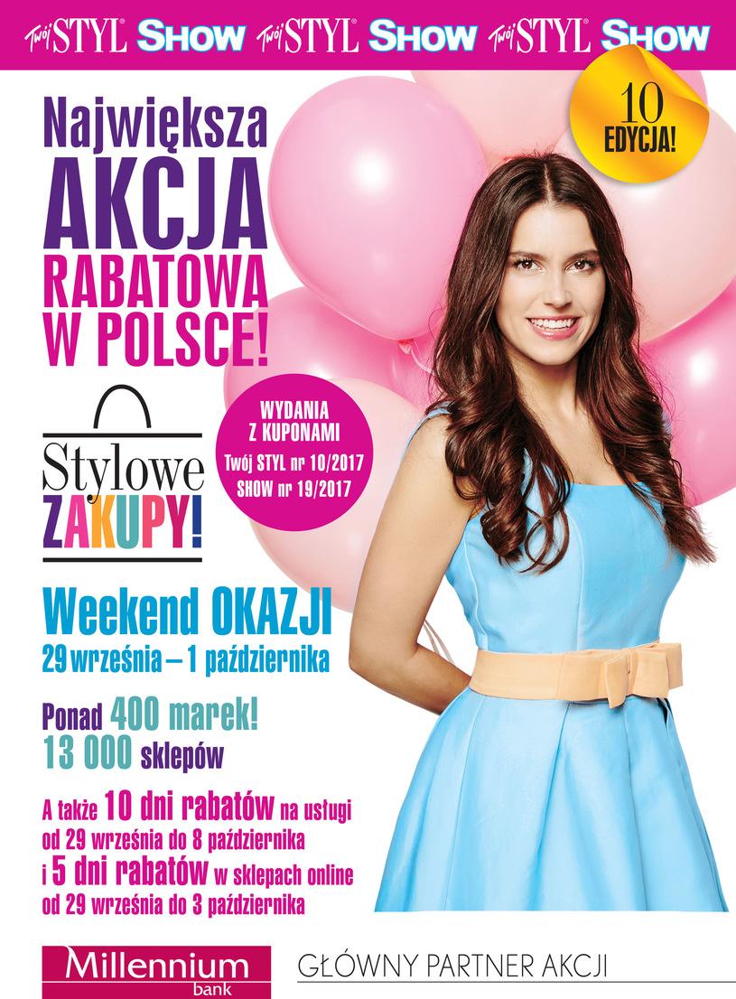 Weekend Zniżek z magazynami Twój Styl i Show - Stylowe Zakupy w całej Polsce 29 września - 1 października 2017                         title=