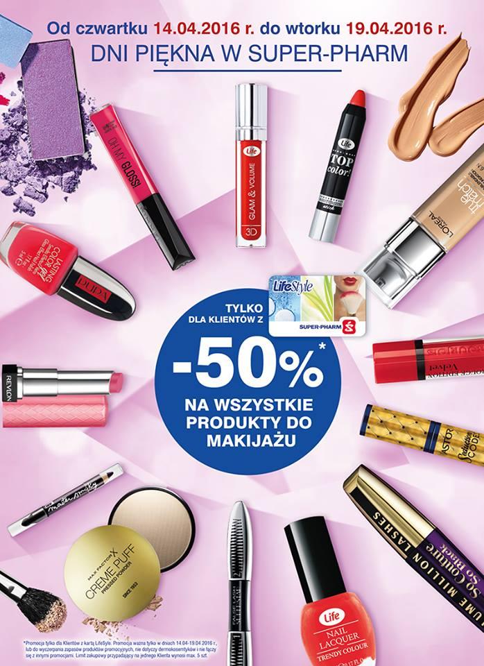 Super-Pharm: 50% zniżki na kosmetyki do makijażu (z kartą LifeStyle)