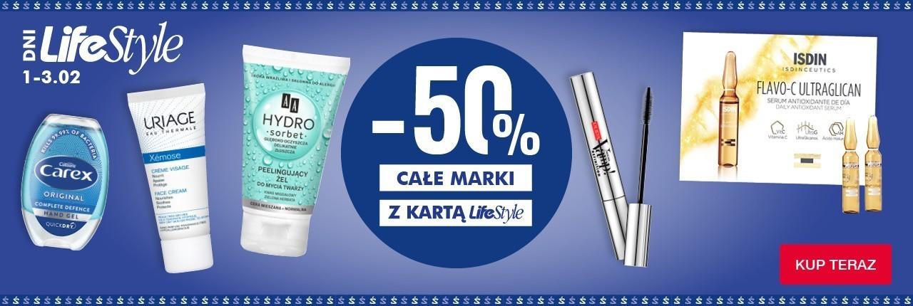 Super-Pharm: 50% rabatu na wybrane marki kosmetyków - dni LifeStyle