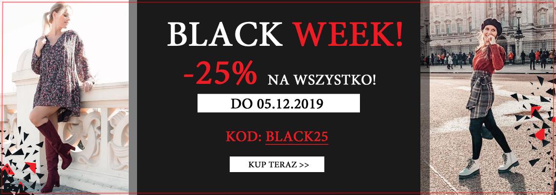 Suzana: Black Week 25% rabatu na cały asortyment obuwia                         title=