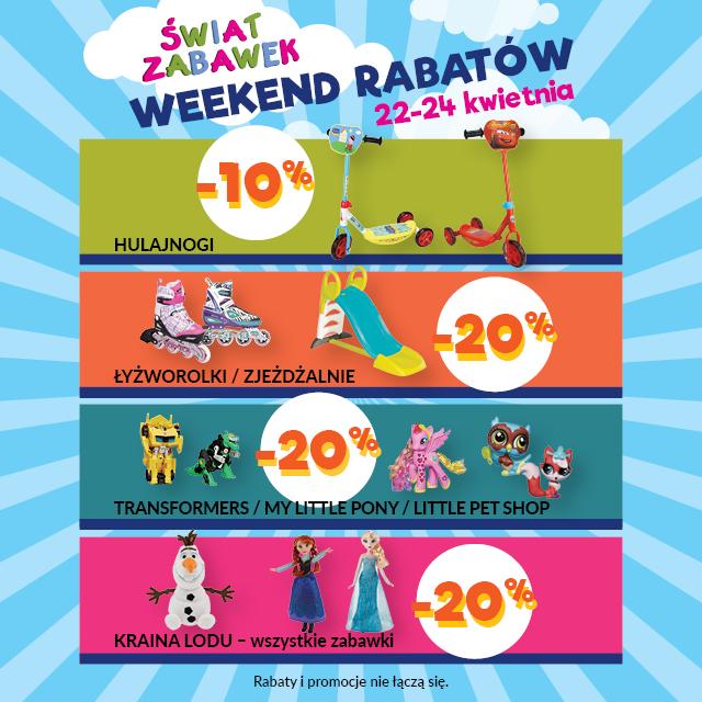 Weekend Rabatów w Świecie Zabawek w dniach 22-24 kwietnia 2016