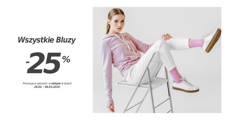 Szachownica: 25% rabatu na wszystkie bluzy damskie i męskie